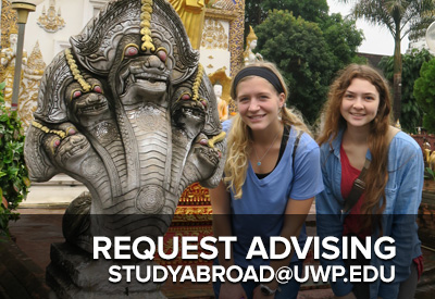 Request Advising - studyabroad@uwp.edu